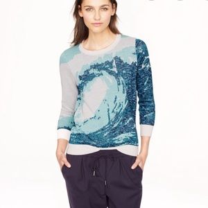 NEW J.Crew metallic intarsia knit sweater💙
